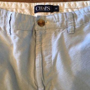 CHAPS Men's Light Blue Flat Front Shorts Size 32